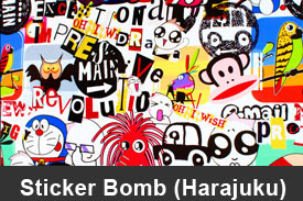 Harajuku Sticker Bomb Pillar Post Trim Kits