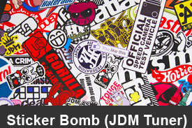 JDM Tuner Sticker Bomb Pillar Post Trim Kits