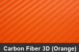 Orange 3D Carbon Fiber Pillar Post Trim Kits