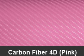 Pink 4D Carbon Fiber Pillar Post Trim Kits