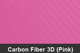 Pink 3D Carbon Fiber Pillar Post Trim Kits