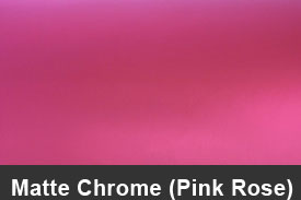 Pink Rose Matte Chrome Pillar Post Trim Kits