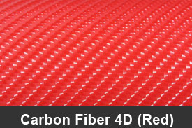 Red 4D Carbon Fiber Pillar Post Trim Kits
