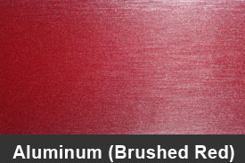 Red Brushed Aluminum Pillar Post Trim Kits
