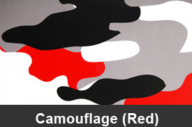 Red Camouflage Pillar Post Trim Kits