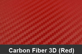 Red 3D Carbon Fiber Pillar Post Trim Kits