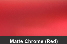 Red Matte Chrome Pillar Post Trim Kits