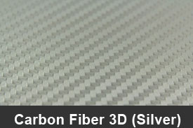Silver 3D Carbon Fiber Pillar Post Trim Kits