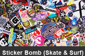 Skate-And-Surf Sticker Bomb Pillar Post Trim Kits