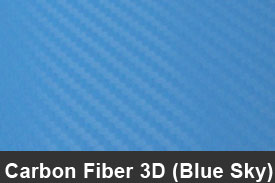 Sky Blue 3D Carbon Fiber Pillar Post Trim Kits