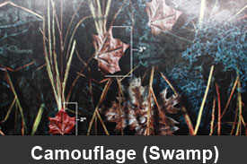 Swamp Camouflage Pillar Post Trim Kits