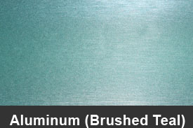 Teal Brushed Aluminum Pillar Post Trim Kits