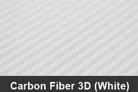 White 3D Carbon Fiber Pillar Post Trim Kits