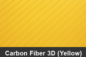 Yellow 3D Carbon Fiber Pillar Post Trim Kits