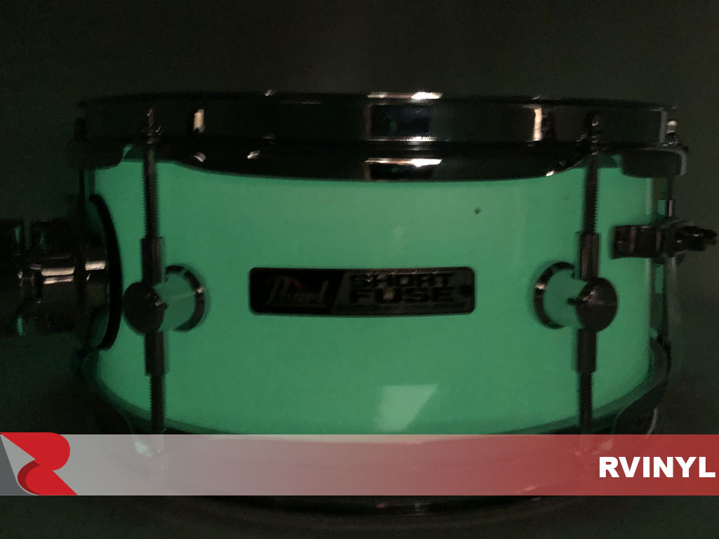 Glow-in-the-Dark Drum Wrap at Night