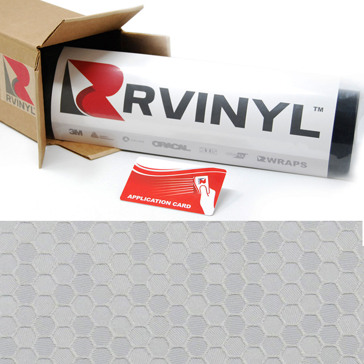 ORACAL 975 Honeycomb Silver Gray Premium Structure Cast Film