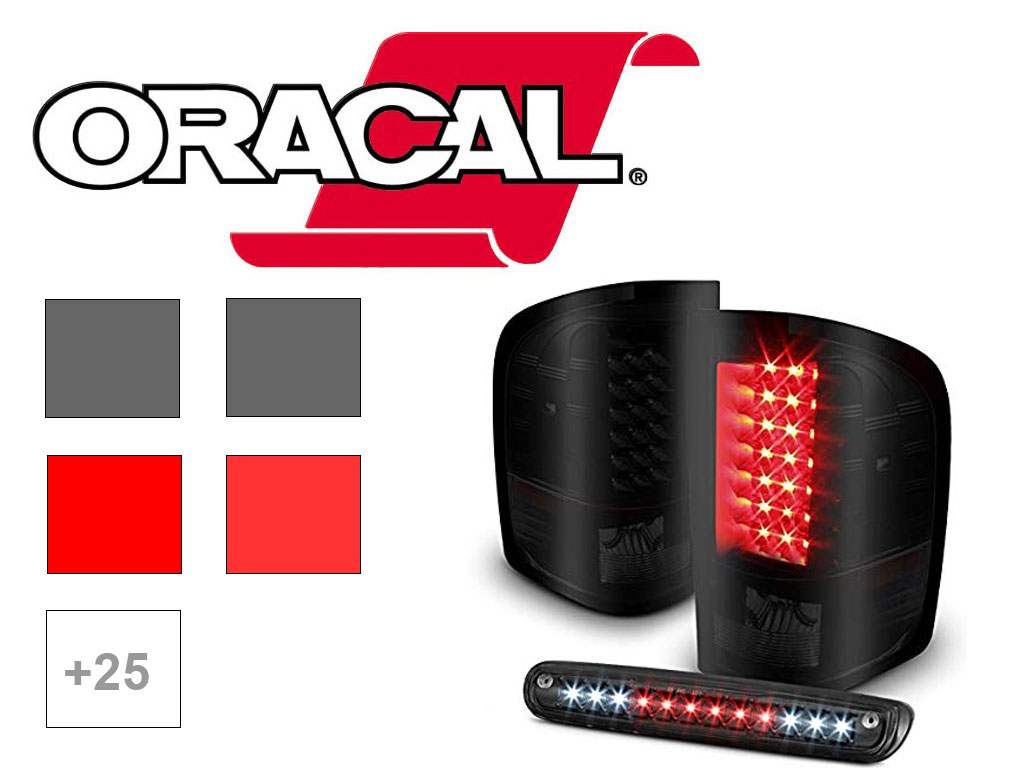 ORACAL 8300 Pontiac Tail Light Tint Film