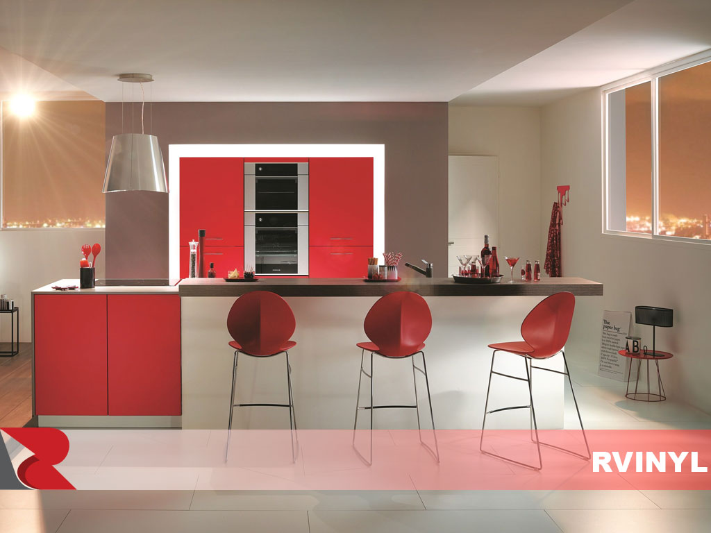 ORACAL® 631 Red Cabinet Wraps