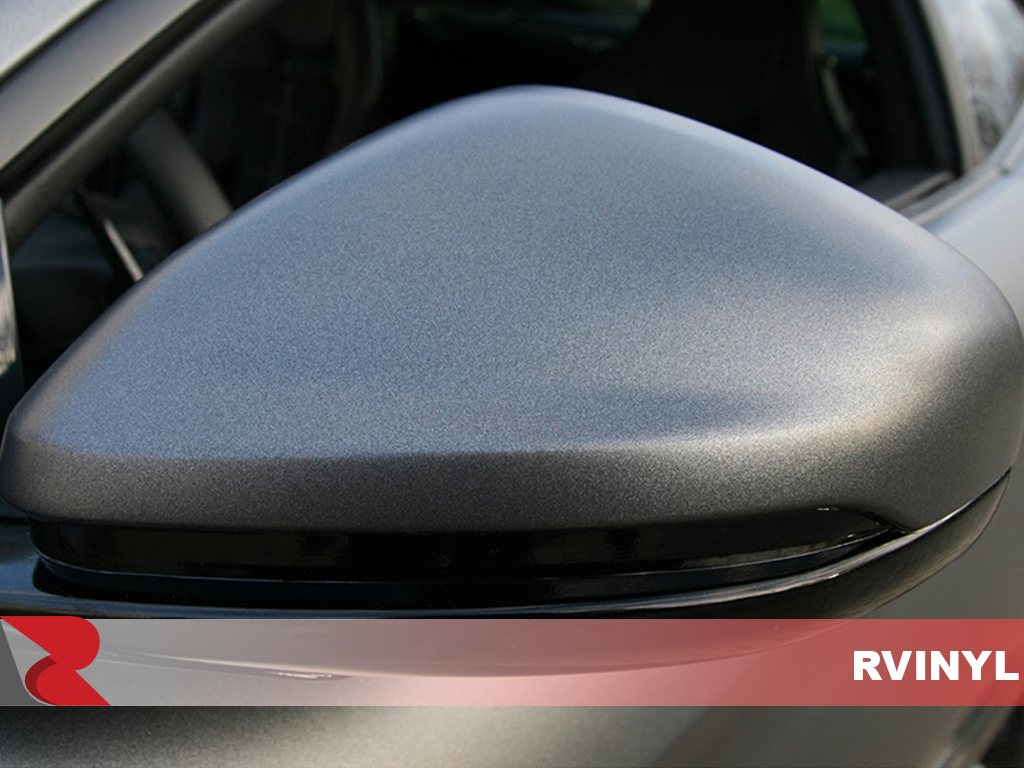 ORACAL 970RA Matte Charcoal Metallic Close Up Wing Mirror Wrap