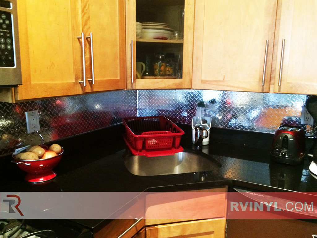 Rcraft? Diamond Plate Kitchen Backsplash Wrap