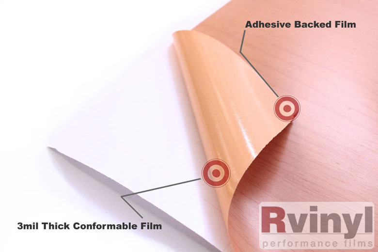 Blonde Oak Wood Grain Vinyl Wrap Film With Glue Backing