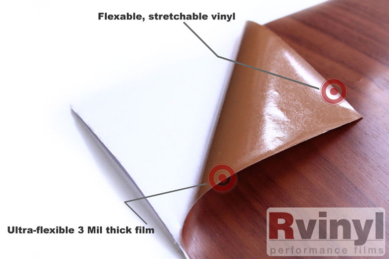 Textured Vinyl Wrap Film in Wood Red oak Finish