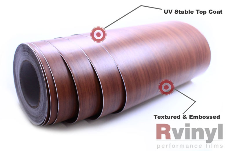 Rcraft Red Oak Wood Vinyl Craft Film