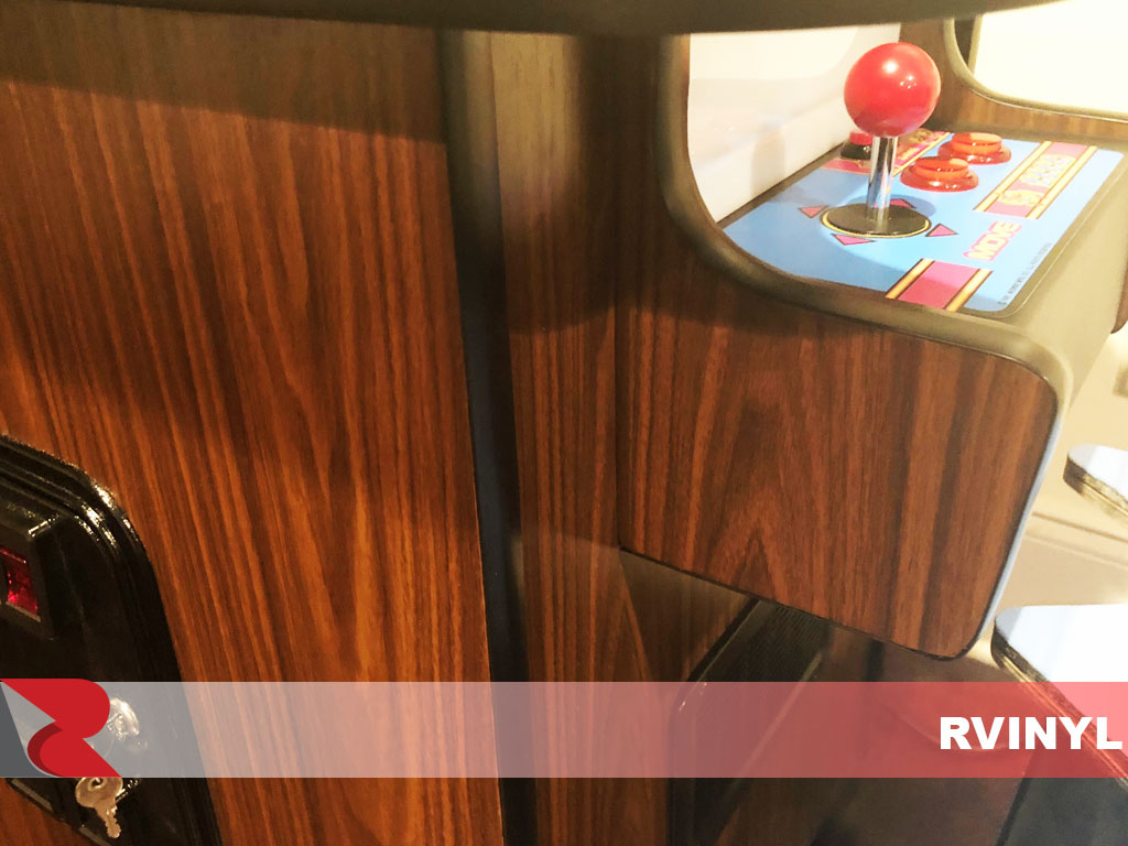 Rcraft Royal Oak wood grain arcade game wrap