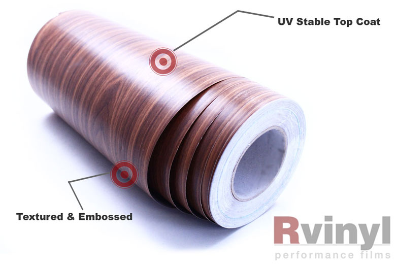 Royal Oak Wood Grain Vinyl Wrap Film Veneer