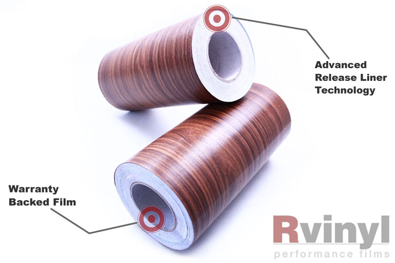 Royal Oak Wood Grain Vinyl Wrap Film With Embossed Wooden Texture