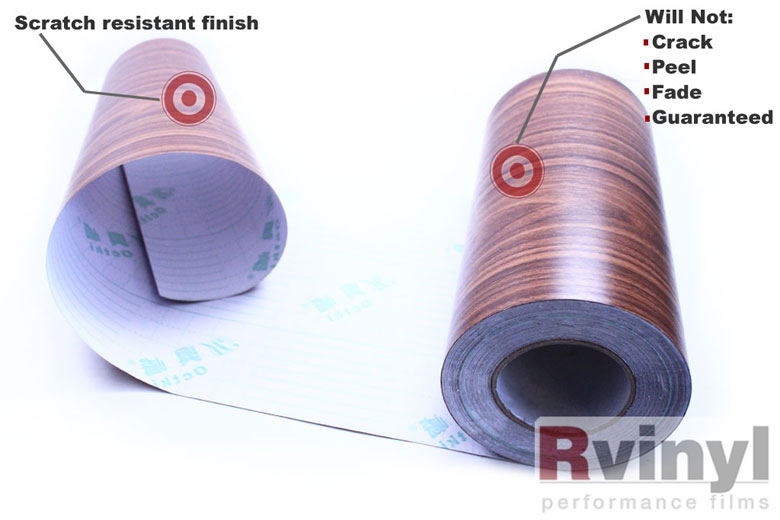 Royal Oak Wood Grain Vinyl Wrap Film For Stickers