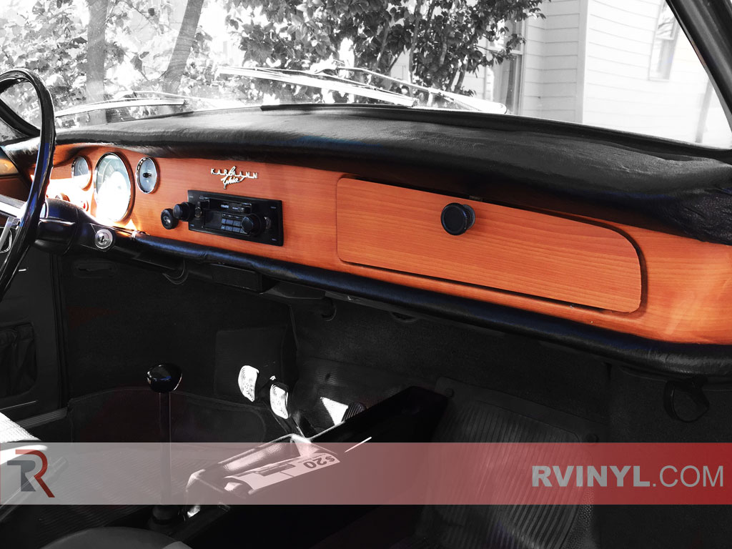 VW Karmann Ghia Dash Wrap - Walnut Rcraft?