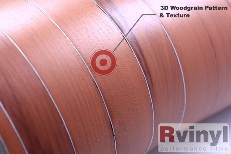 Walnut Wood Grain Vinyl Wrap Film for Decal Making