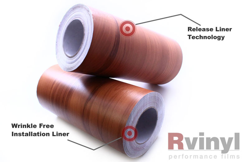 Walnut Wood Grain Vinyl Wrap Film With Textured & Embossed Wooden Pattern