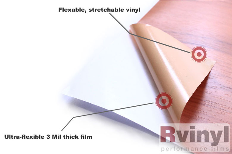 Walnut Wood Grain Vinyl Wrap Film With Adhesive Backing