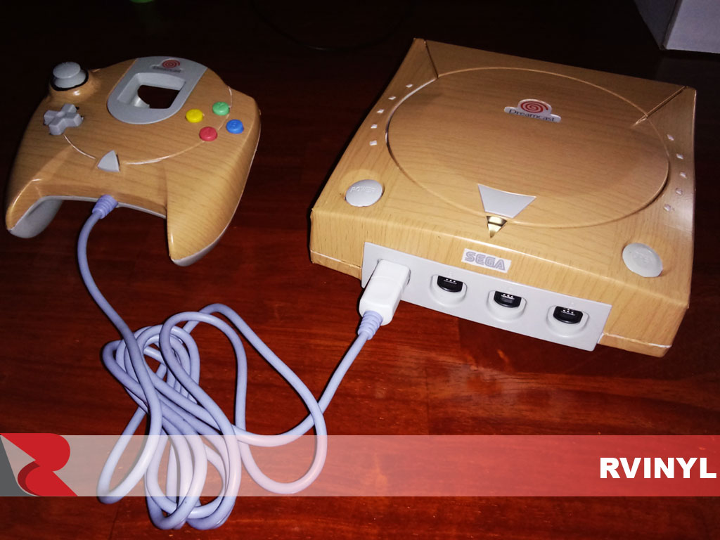 Wraps Wood Grain Vinyl Film Wrap - Oak (Blonde) Dreamcast Wrap