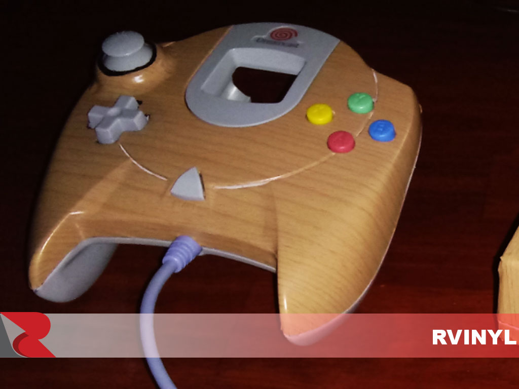 Wraps Wood Grain Vinyl Film Wrap - Oak (Blonde) Dreamcast Controller Wrap