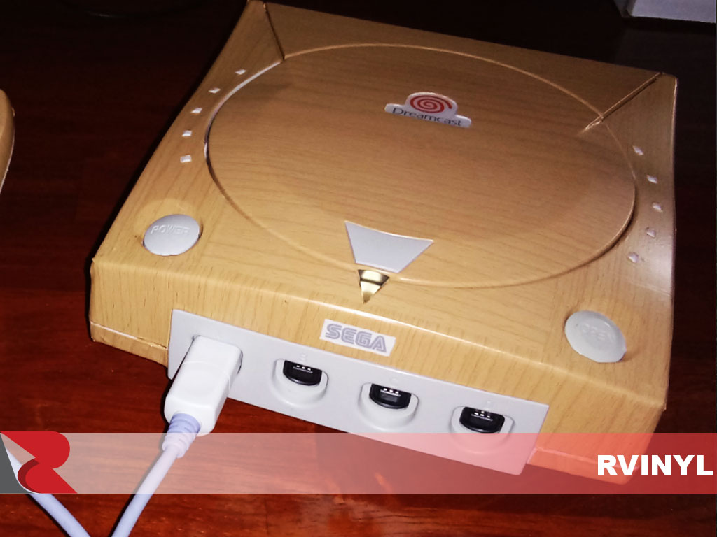 Wraps Wood Grain Vinyl Film Wrap - Oak (Blonde) Dreamcast Custom Wrap