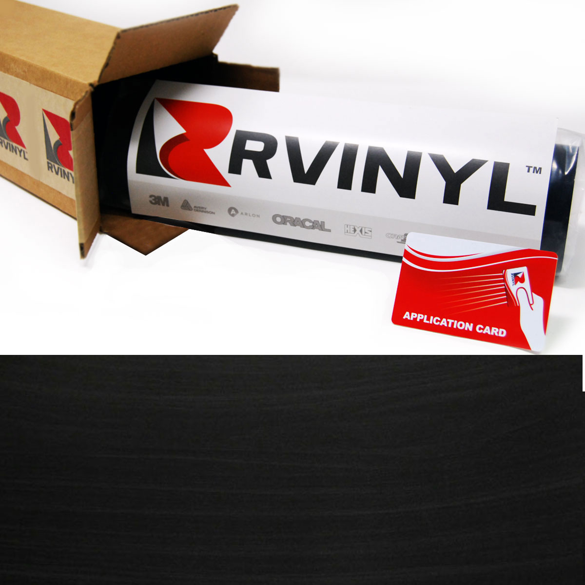 Ebony Wood Grain Craft Vinyl