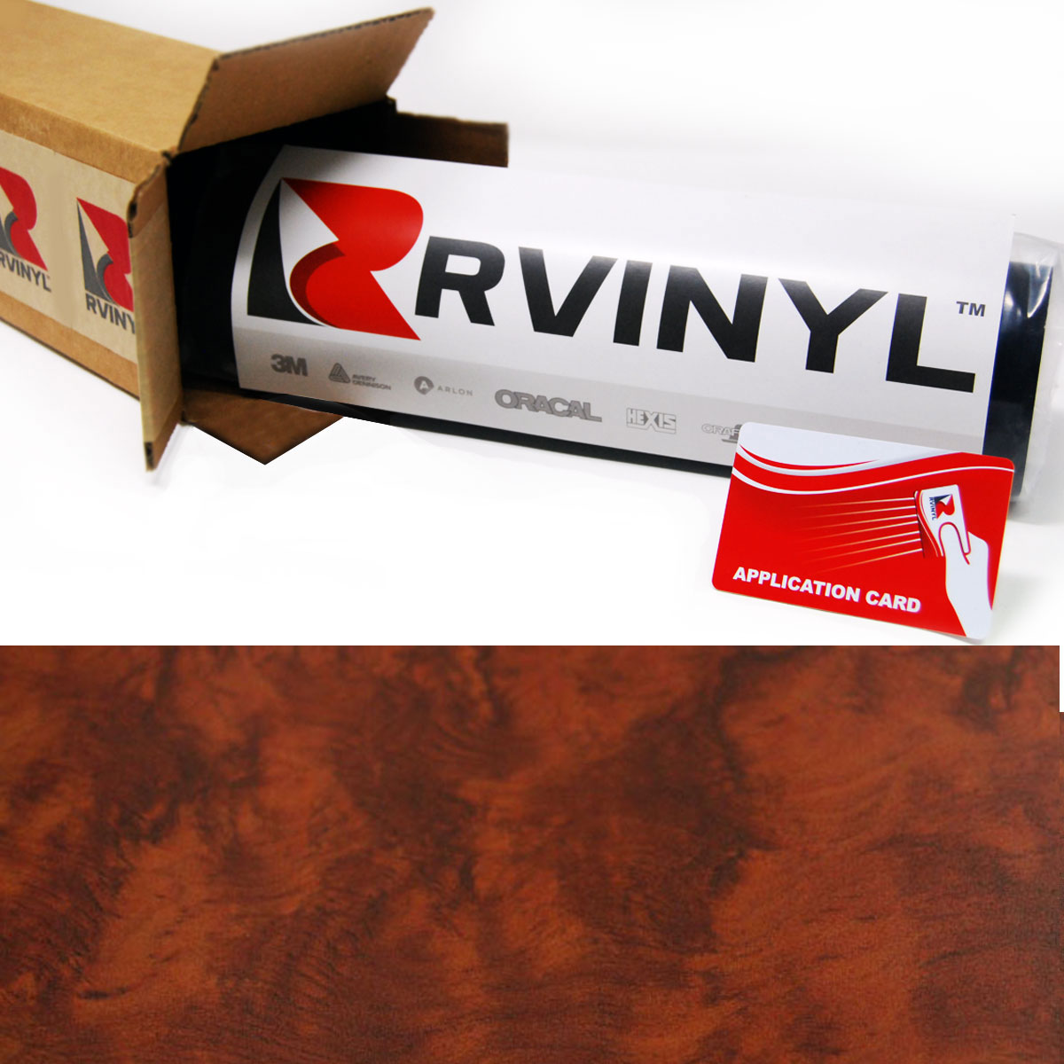 Honey Burlwood Wood Grain Craft Vinyl