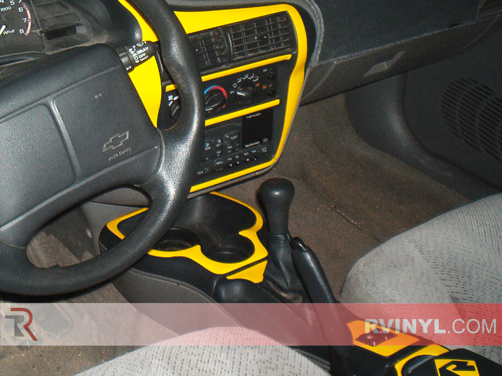 Custom Gloss Yellow Chevy Cavalier Dash Kit