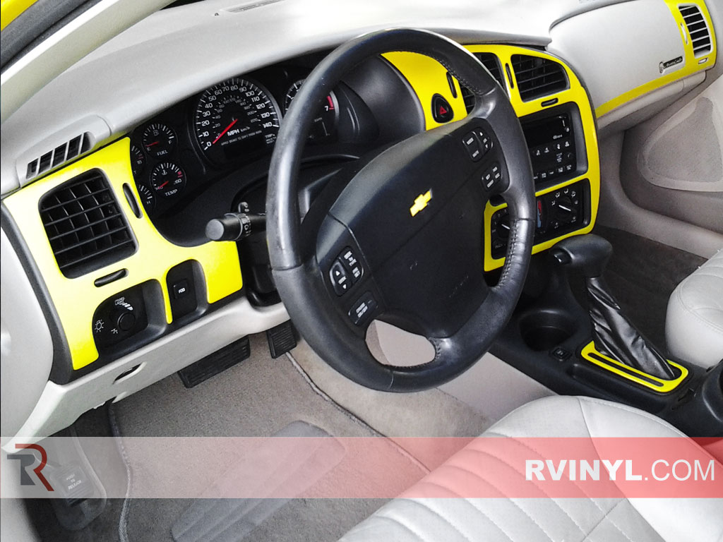 Gloss Yellow Chevy Monte Carlo Custom Dash Kit