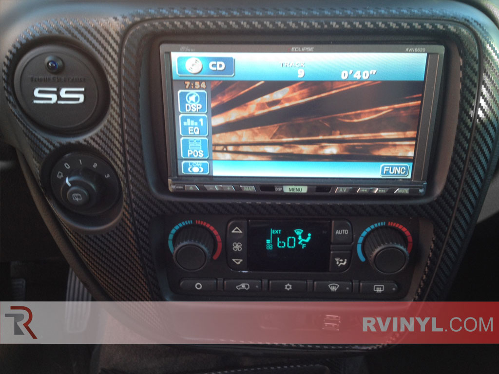 custom chevy trailblazer ss carbon fiber dash kit