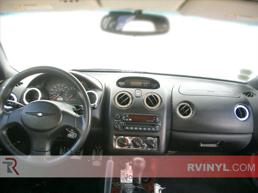 Chrysler Sebring Coupe 2001 2002 Mirror Chrome Dash Kits