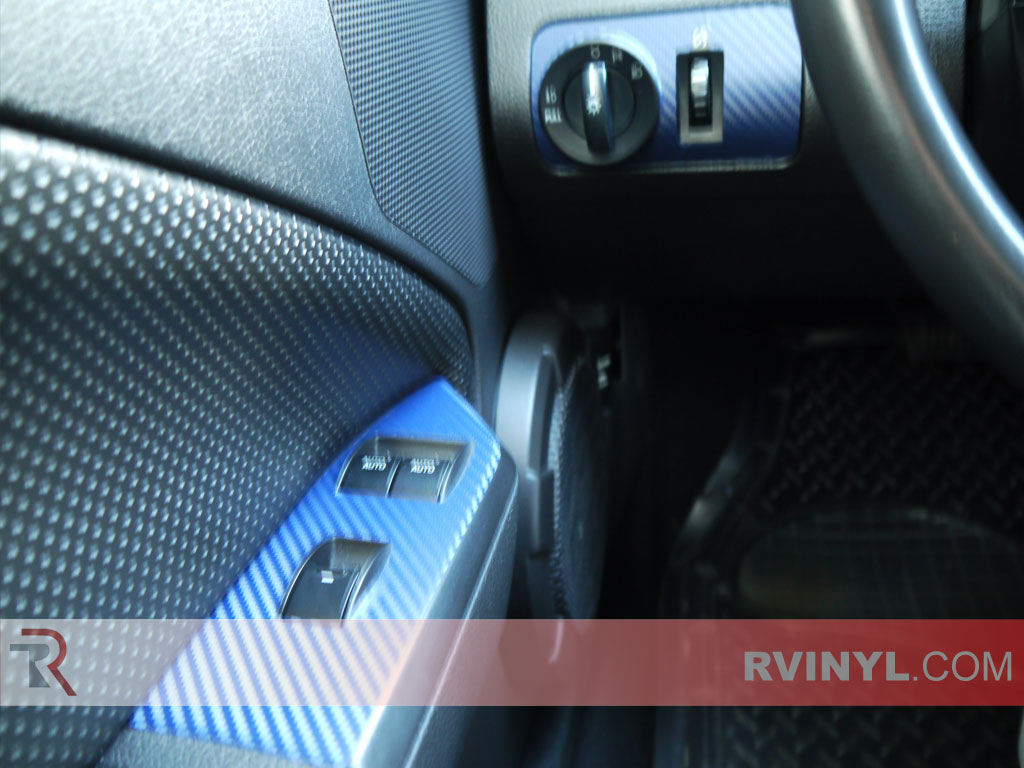 Blue Carbon Fiber Custom Dash Kit