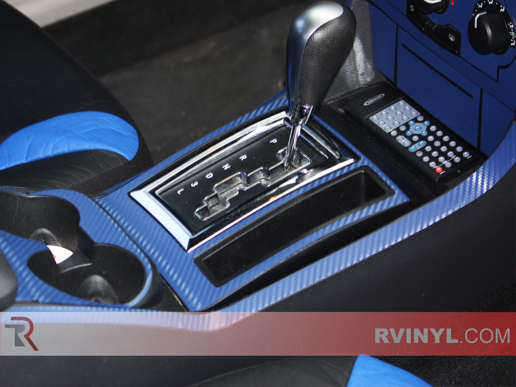 Blue Textured Carbon Fiber Interior TrimKkit