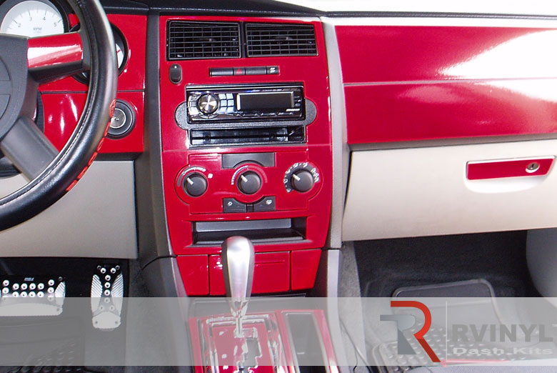Dodge Magnum 2005 Red Dash Kit