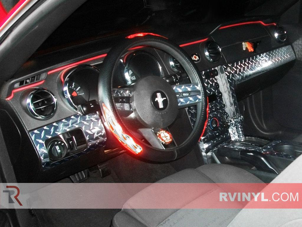 Ford Mustang Diamond Plate Dash Kits