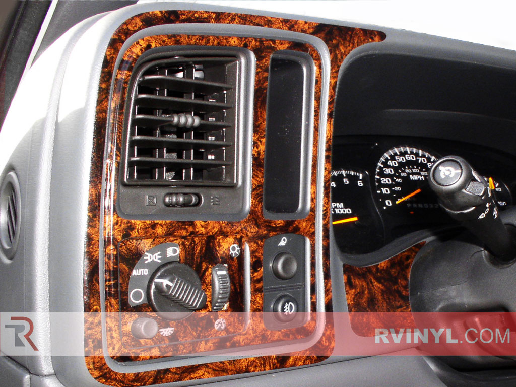Gmc Yukon 2003 2006 Wood Dash Kits With Auto Light Headlamp Switch Insert