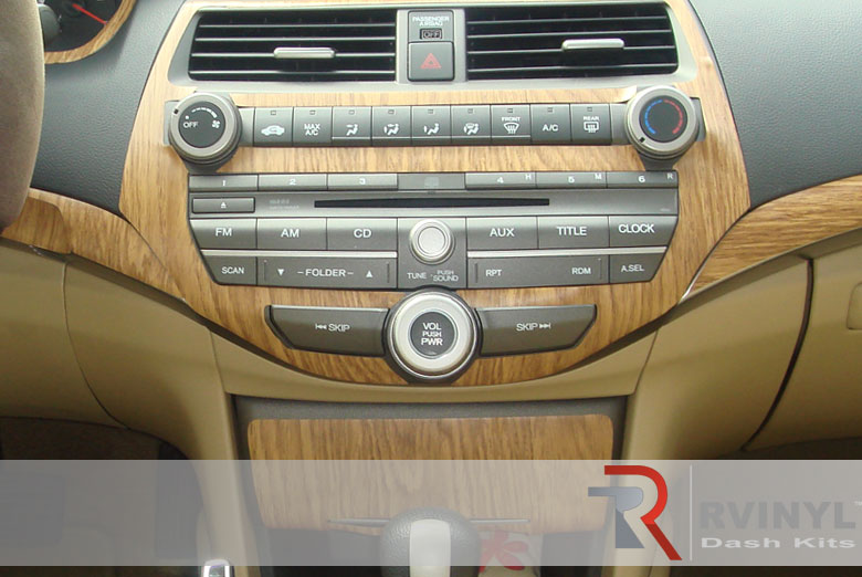 Honda Accord Sedan 2008 Oak Dash Kit